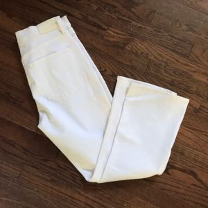 NWT CofH demy cropped flare white jeans